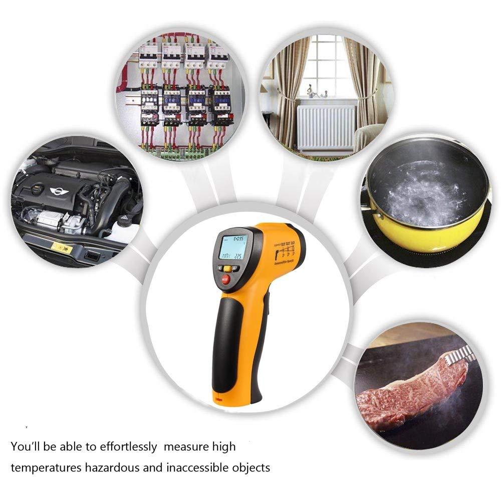 lentretien automobile les r/éparations /à domicile pile 9 V incluse Hti-Xintai Thermom/ètre infrarouge num/érique sans contact laser -50 /°C ~ 380 /°C pour la cuisine