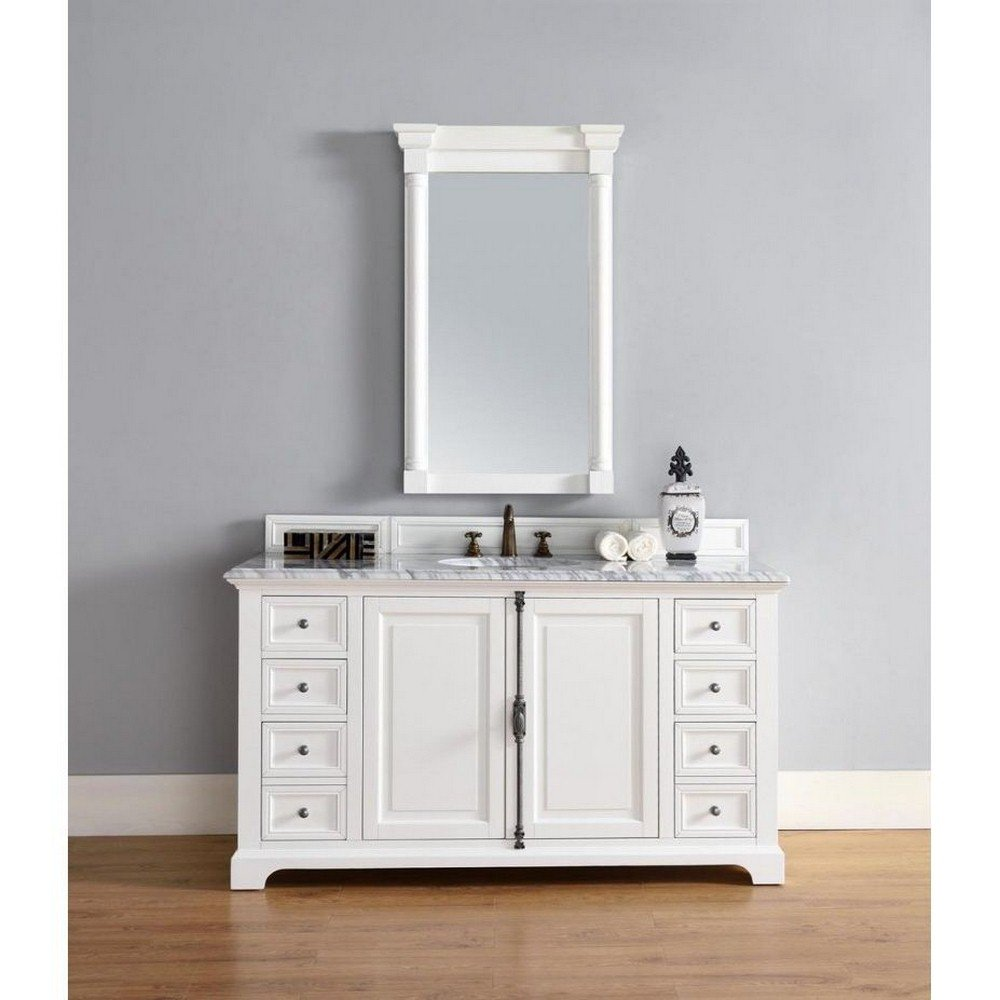 60 in. Single Vanity Cabinet in Cottage White