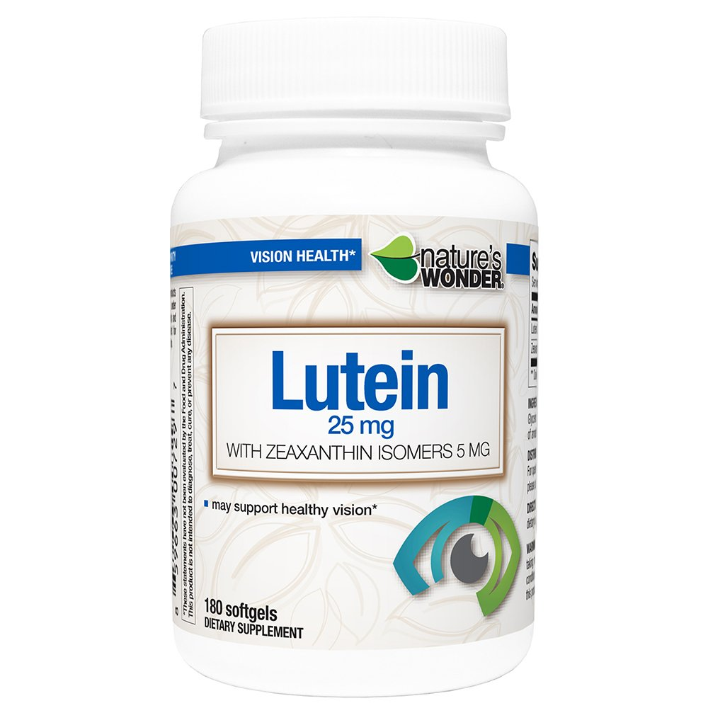 Lutein 25mg Zeaxanthin 5mg Soft Gels180ct by Nature's Wonder