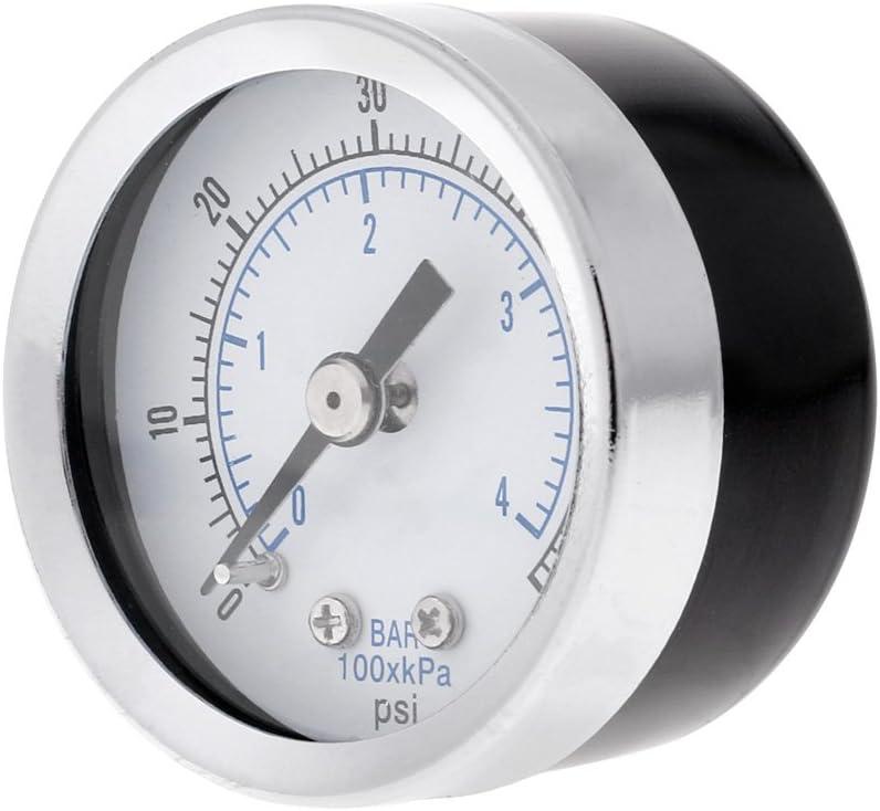 yuaierchen 1//8 NPT Hydraulisches Druckmessger/ät Luftkompressor 0-60 PSI R/ückmontage 3,8 cm