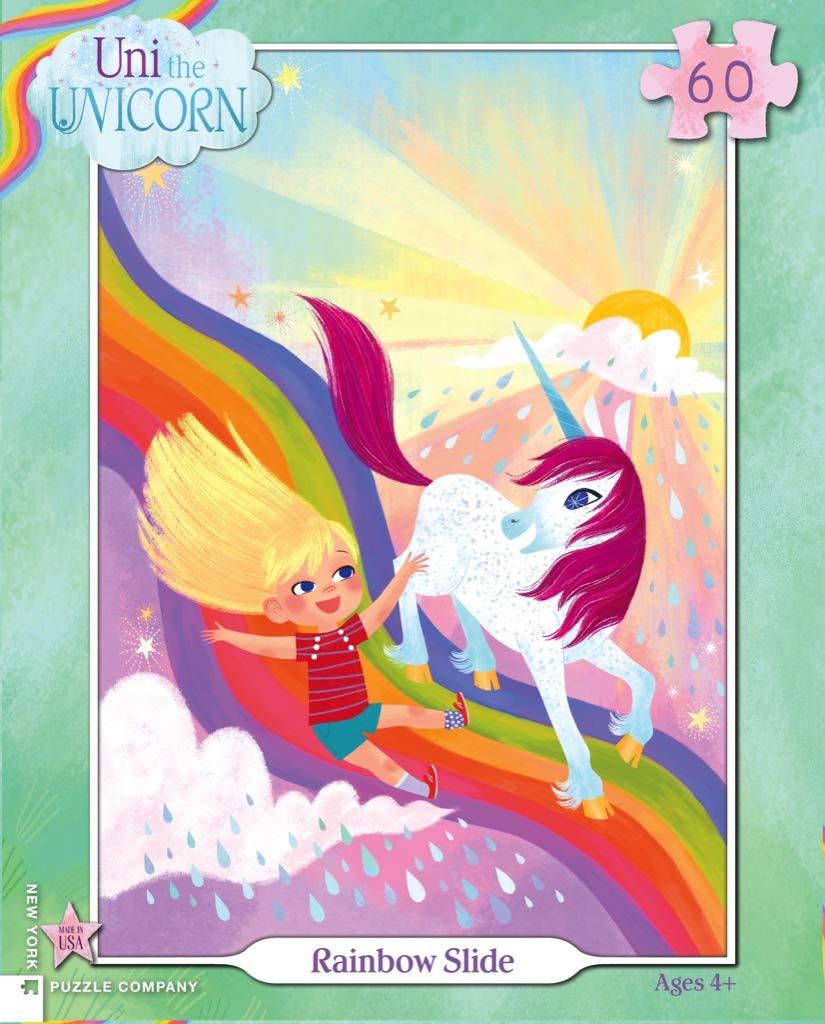 Uni The Unicorn Rainbow Slide New York Puzzle Company 60 Piece Jigsaw Puzzle
