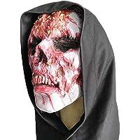 Máscara de Halloween Amosfun Zumbi Máscara de Caveira Humana Caveira de Látex Máscaras de Terror Monstro Zumbi Máscara…