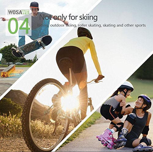 WOLFBIKE 3D Padded Short Protective Hip Butt Pad Ski Skate Compression Shorts