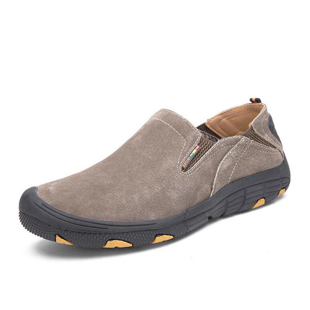 Zapatos para hombres Outdoor / Office & Career / Casual Leather Zapatos casuales para hombres Zapatos para hombres Guisantes Zapatos Zapatos para hombres Lazy Shoes GAOLIXIA ( Color : Khaki , tamaño : 38 ) 38 Khaki