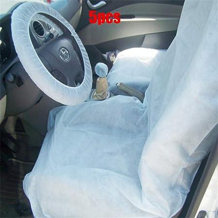 Coprisedili usa e getta in plastica bianca per auto, coprivolante