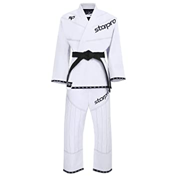 Starpro BJJ Suits Brazilian Gi Preshrunk Black White Cotton Fabric for Men /& Women A0 A1 A2 A3 A4 A5 Karate Grappling Jiu-Jitsu Uniform Kimonos Professional Training /& Competition Martial Arts