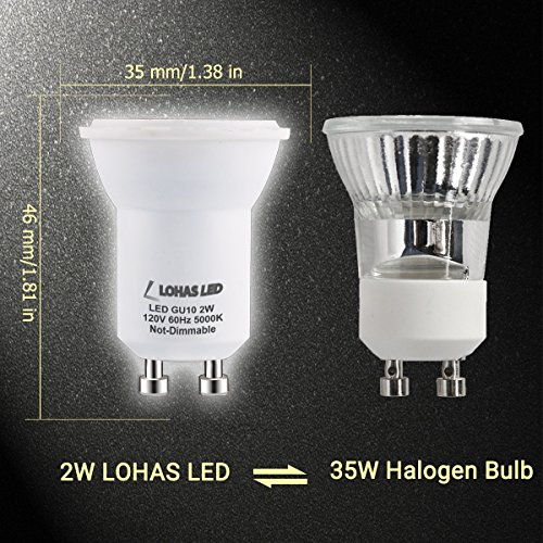 lohas gu10 led bulbs 2watt 35w equivalent daylight white import it all. Black Bedroom Furniture Sets. Home Design Ideas