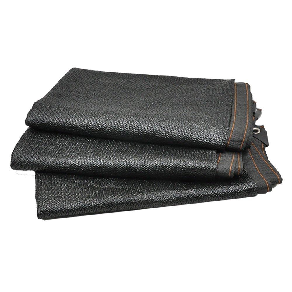 HUO Panno di Maglia reticolato per Tende da Sole per Parasole per Piante da Giardino (colore   Nero, Dimensioni   3  8m)