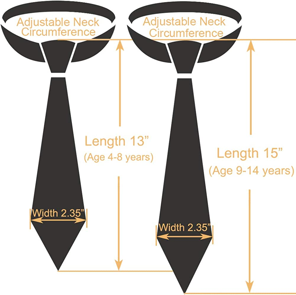 CANGRON Boy Tie Colors Options Zipper Pre-Tied Neckties with Giftbox LZC6ZH