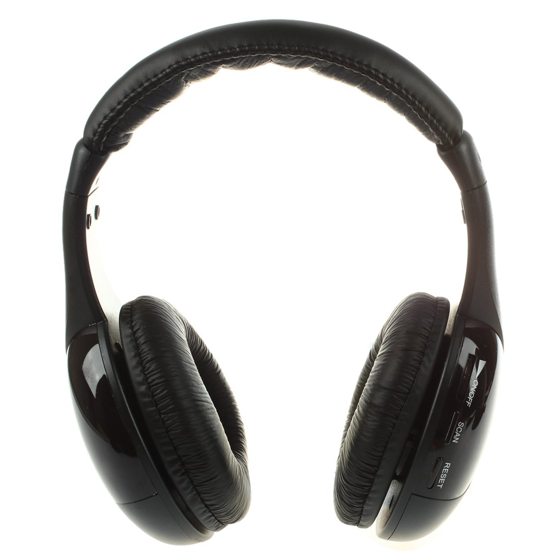 SODIAL 5 en 1 Auriculares inalambricos HiFi Radio FM Monitor MP3 PC TV Audio Telefonos moviles Negro: Amazon.es: Electrónica