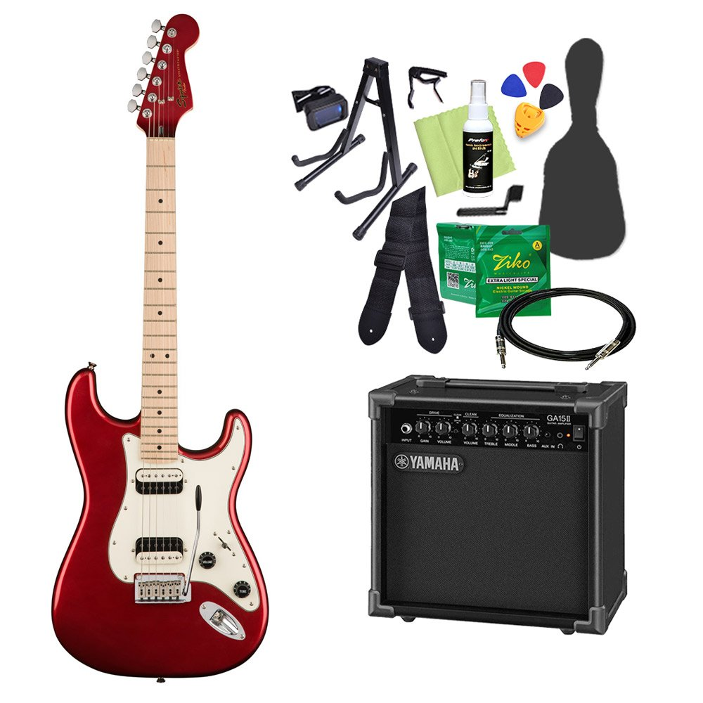 Squier by Fender Contemporary Stratocaster HH DMR エレキギター 初心者14点セット 【ヤマハアンプ付き】 ストラトキャスター スクワイヤー/スクワイア   B07CNSF59L