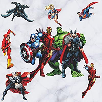 GADFLY Children, Kids, Baby, Nursery's Peal Stick Wall Decals Stickers (The Avengers): Home & Kitchen