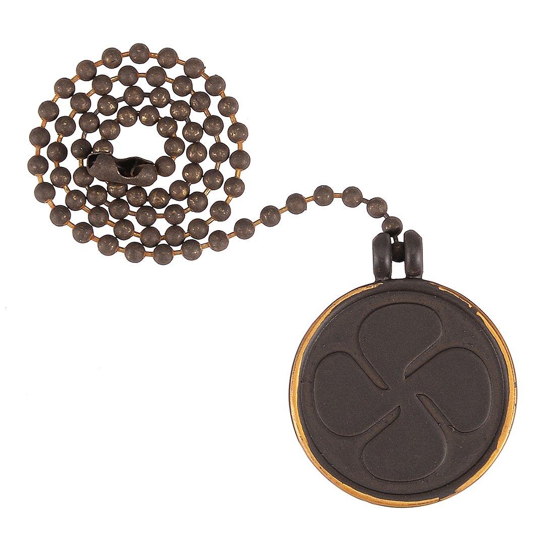sourcing map 2pcs Ventilador de techo tirar de la cadena de bronce 12 pulgadas Moneda Bombilla forma cadena de tirar