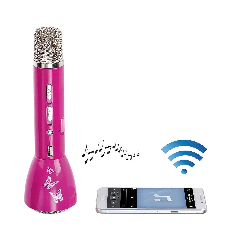 Clip Sonic Technology tes173p Karaoke 3en 1Bluetooth para Smartphone/iPhone/Tablet/PC Rosa 214C