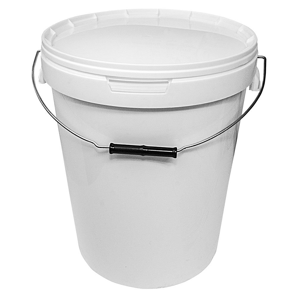 Brow Farm White Storage Bucket With Lid 25L (1 Bucket) .