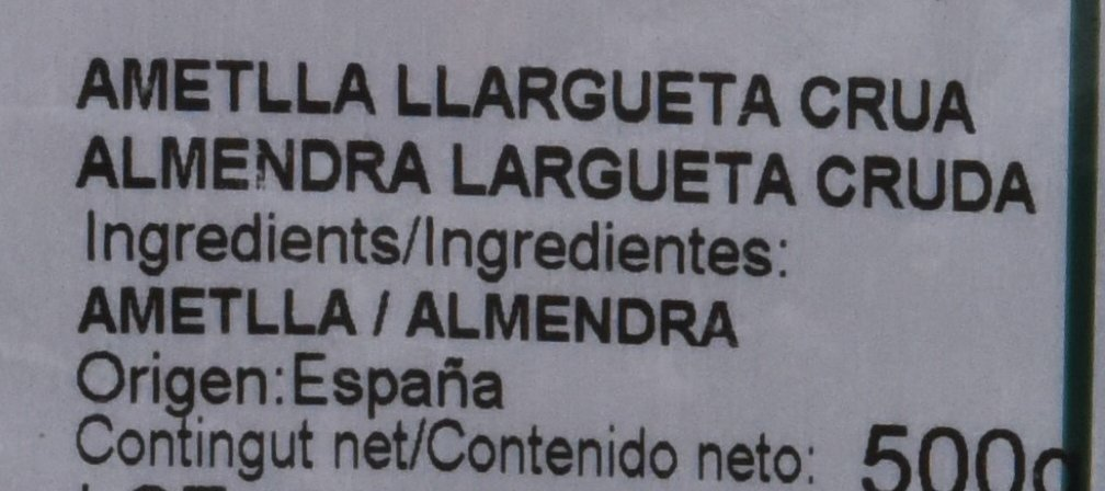 Casa Gispert Almendra Largueta Cruda Frutos Secos - 500 gr: Amazon.es: Alimentación y bebidas