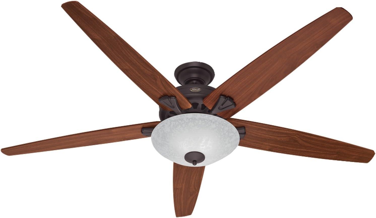 Hunter Fan Company Hunter 55042 Transitional 70``Ceiling Fan from Stockbridge collection Dark finish, New Bronze
