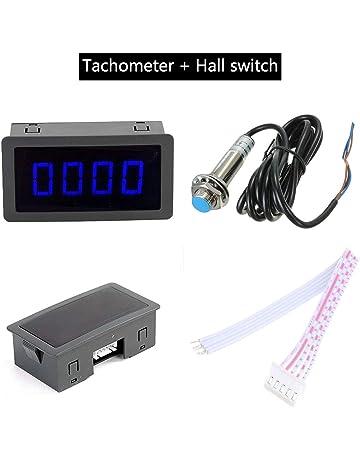 Contador de velocidad con tacómetro, LED de 4 tacómetro, rpm, metro de velocidad