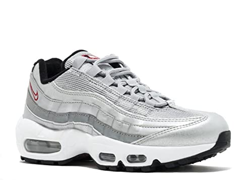8e571d6043 Nike Women's Air Max 95 QS Metallic Silver/University Red 814914 002 Size  8.5