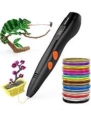 3D Penna Stampa + PLA Fliament Set, Meterk 3D Stereoscopico Della Penna di Stampa Disegno di 3D Doodling Pittura + Modeling + Arts + Crafts Stampa,Compatibile con 1.75mm PLA/ABS Filaments Stampante