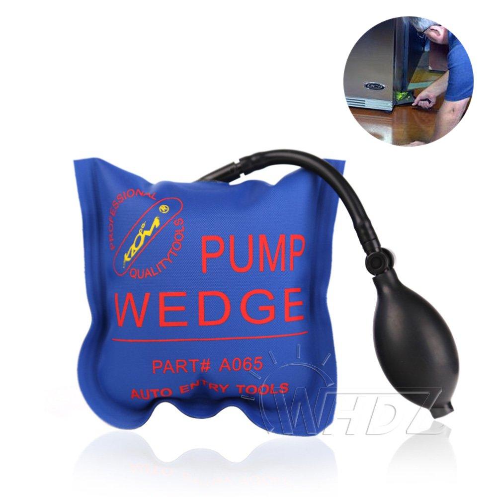 WHDZ aire bomba de cuña cuña hinchable cuña acolchada herramienta para puerta ventana coche aparatos gabinetes uso universal (2 Color), azul