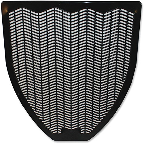 Impact Non-Skid Disposable Urinal Floor Mat, 17-1/2' Width x 20-3/8' Length, Black (Pack of 6)