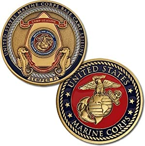 Marines Camp Lejeune Challenge Coin