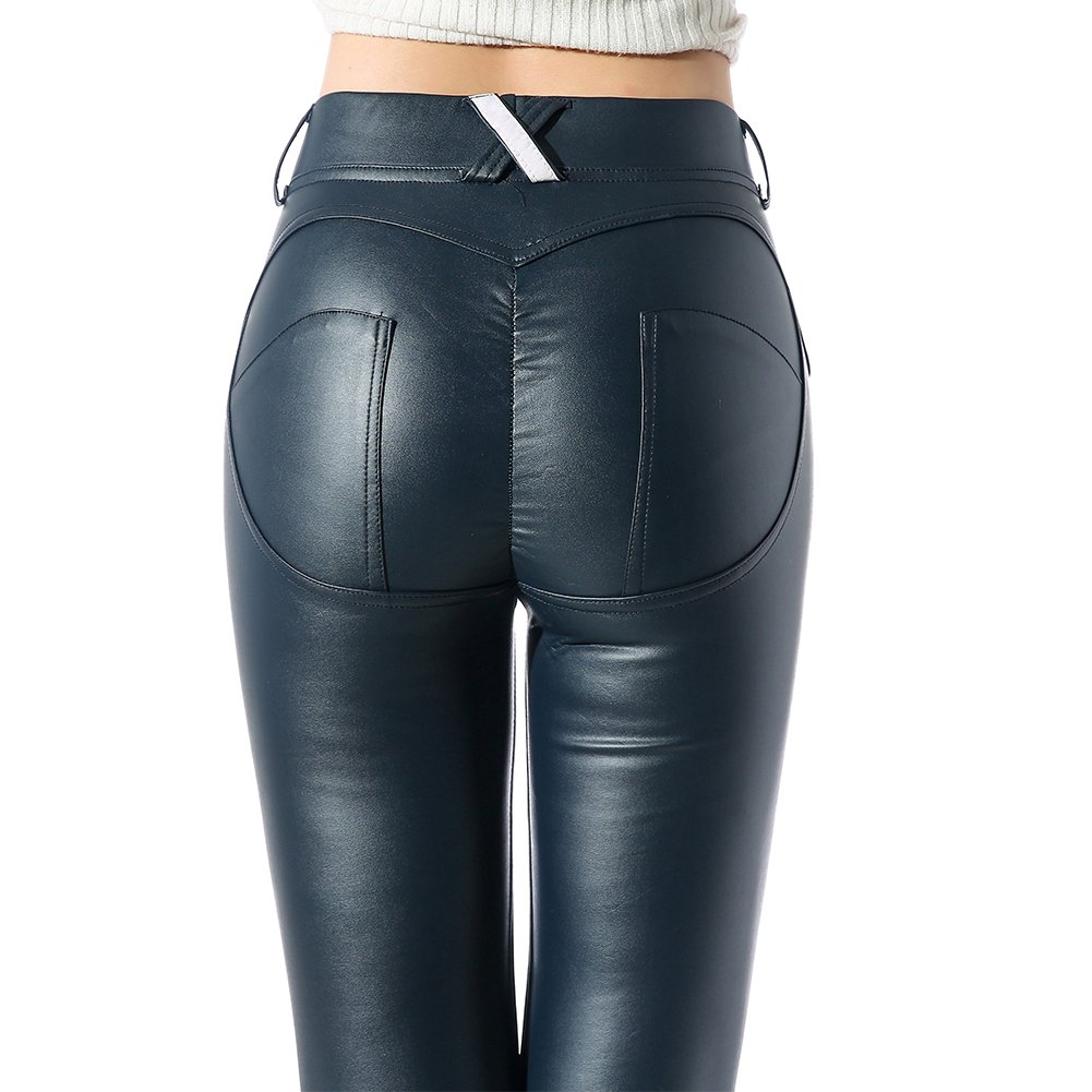 158c41e4d1d8f Material: High Quality Stretchy Synthetic Leggings ( PU + Spandex + Velvet)  Features: High waist, Wrinkle-resistant, Stretchy, Wet look, Slim Fit Shiny  ...