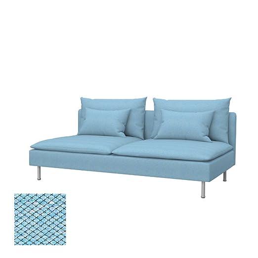 Soferia - IKEA SÖDERHAMN Funda para sofá Cama, Nordic Blue ...