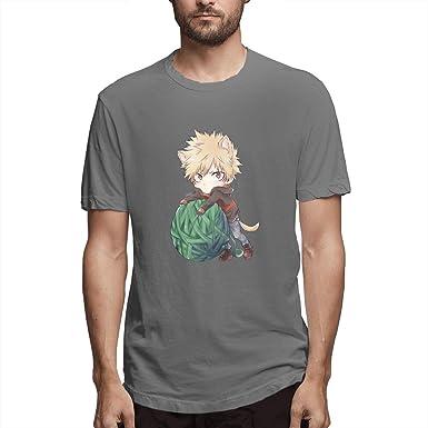My Hero Academia Boku No Hero Katsuki Bakugo - Camiseta de Manga Corta para Hombre - Gris - XX-Large: Amazon.es: Ropa y accesorios
