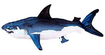 Huge Stuffed Shark Fish - Giant Pillow - Over 4 ft Long