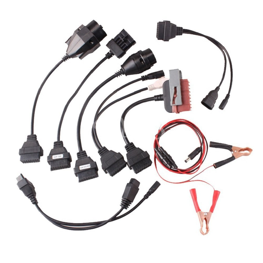 akaufeng 8 cavo cavo set OBD-II OBD2 Adattatore Diagnostico PKW per PSA, Audi, BENZ, BMW, Opel, Fiat AKFDE-QCZDX-01