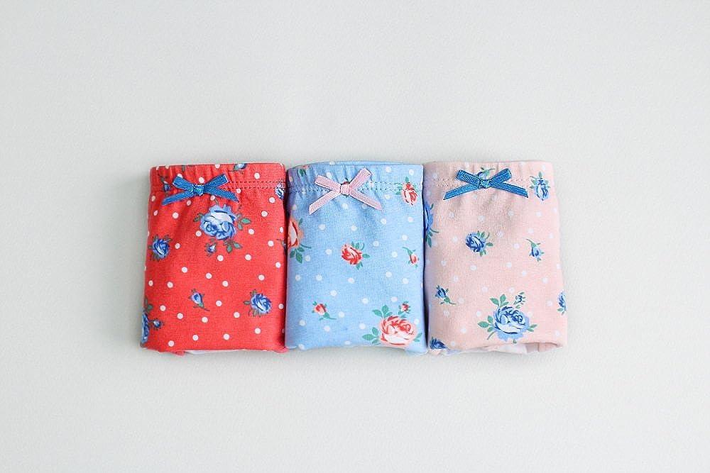 Vaenait baby 2-7 Years Kids Girls Underwear Briefs 3-Pack Set Flower Garden