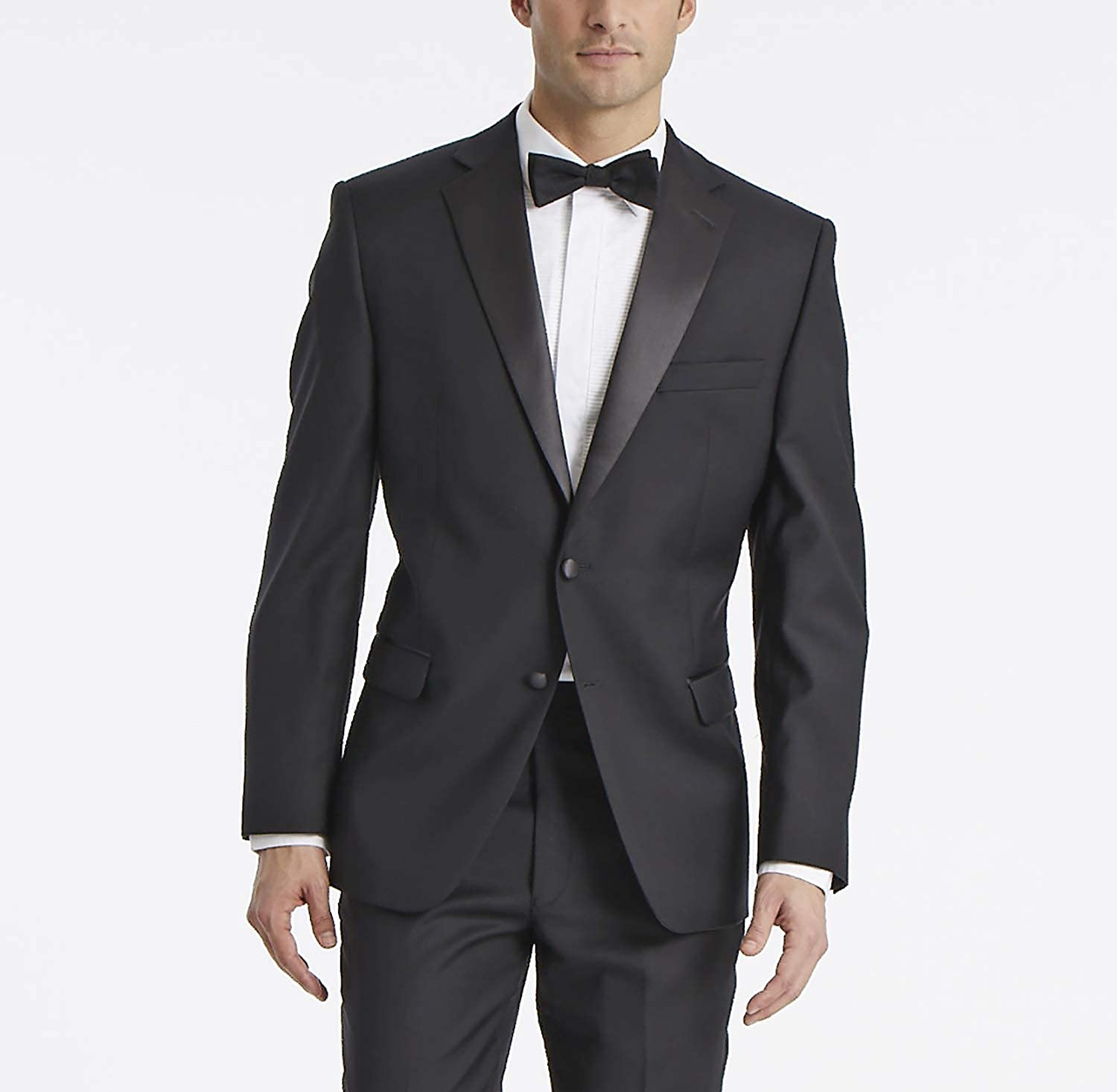Calvin Klein Men's Modern Fit 100% Wool Tuxedo Suit Separates-Custom Jacket & Pant Size Selection