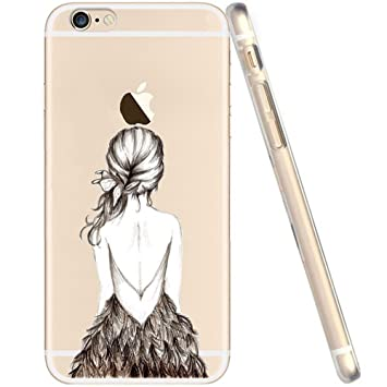 coque iphone 6 silicone plume