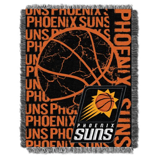 Phoenix Suns Throw - The Northwest Company Officially Licensed NBA Phoenix Suns Double Play Jacquard Throw Blanket, 48