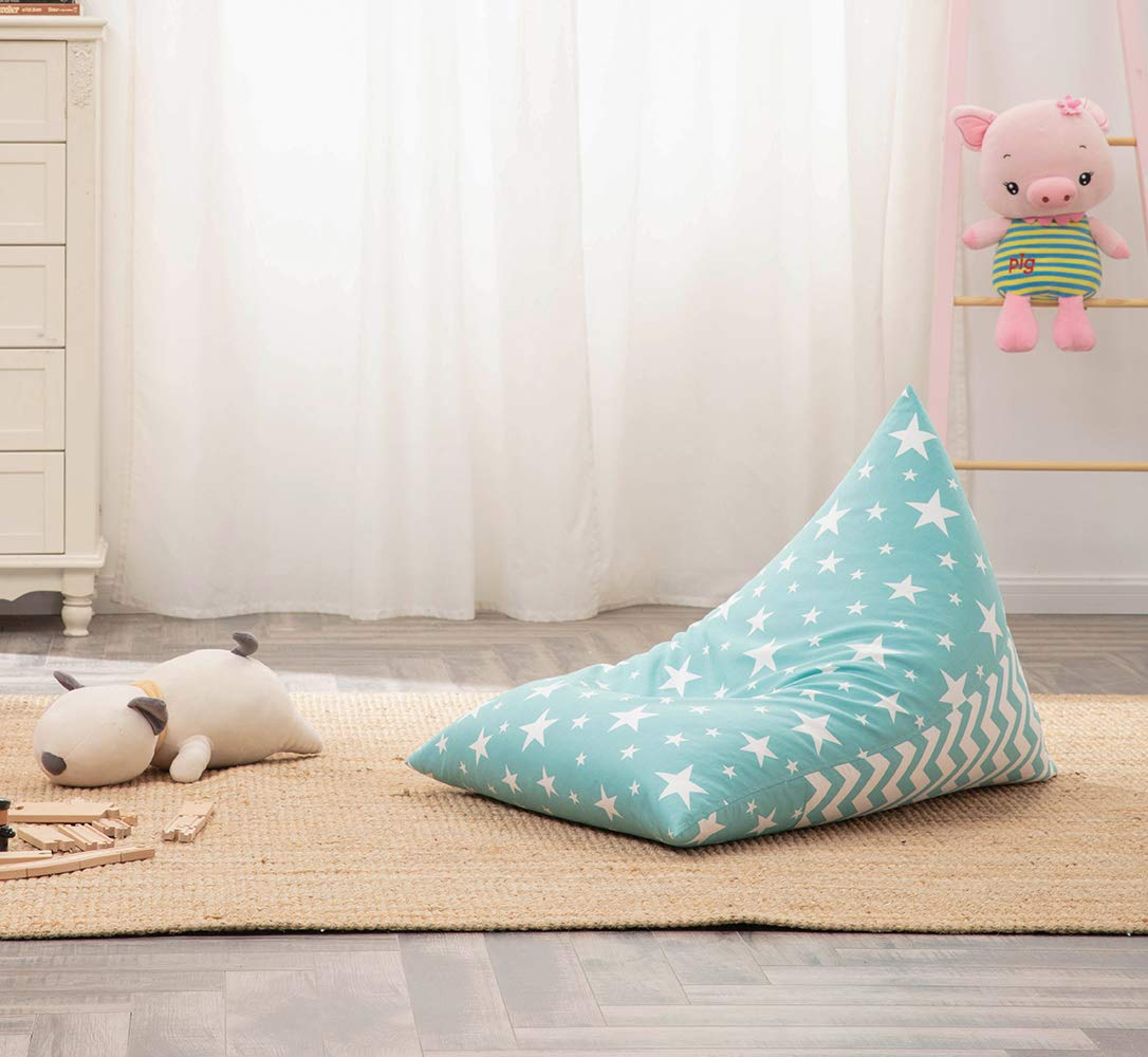 Light Blue Premium Zippers Extra Large Beanbag Cover Stuffed Animal Storage or Memory Foam Soft Premium Micro Fiber Covers Cover Only Nobildonna Stuffed Storage Bean Bag Chair for Kids and Adults