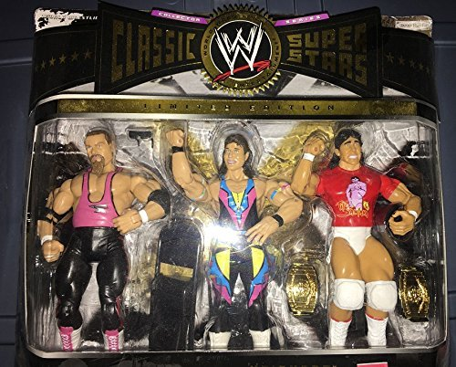 WWE Classic 3 pack Marty Jannetty Jim the anvil Neidhart Tito Santana Limited Wrestling Figures by WWE