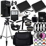 Ultimate 58mm Lens 28PC Accessory Kit for Canon EOS Rebel T3 T5 T6 1100D 1200D 1300D DSLR Cameras