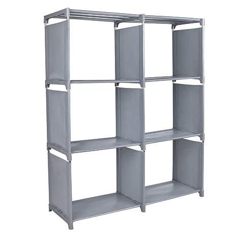 amazon com storage cube organizer bfsport 6 cube storage storage rh amazon com Target Storage Cube Shelves Target Storage Cube Shelves