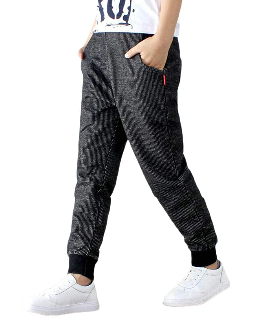 Pandapang Boys Jogger Sweatpants Cute Cotton Sports Slim Pants