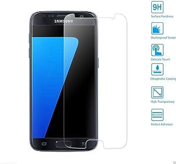 MUNDDY Protector de Pantalla para Samsung Galaxy S7 Cristal Vidrio Templado Premium,Espesor 0,30 mm, 2.5D Round Edge, [9H Dureza] [Alta Transparencia] [Sin Burbujas] (NO Cubre O Pega LOS Bordes): Amazon.es: Electrónica