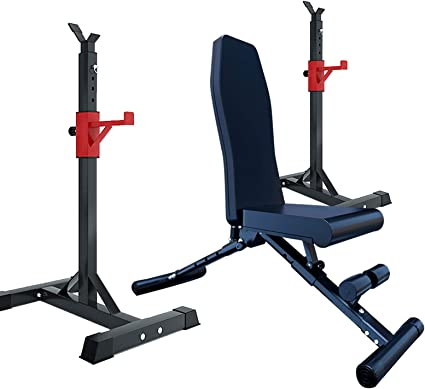 Bench Press Set Weight Bench Adjustable Squat Rack with Pull Up Bar Bench for Weight Lifting for Home Load Bearing: 350KG