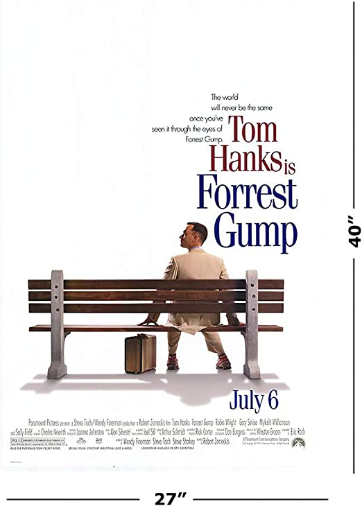"""Amazon.com: POSTER STOP ONLINE Forrest Gump - Movie Poster/Print (Regular  Style) (Size 27"""" x 40""""): Posters & Prints"""
