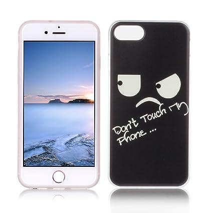 OuDu Funda para iPhone 8 Carcasa Protectora Caso Silicona TPU Funda Suave Soft Silicone Case Cover