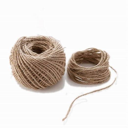 WopenJucy 1 Rollo de Cordel de Yute Natural Vintage de Cuerda de c/á/ñamo para Bricolaje Materiales para jardiner/ía Manualidades y decoraci/ón Artes 100 Metros, marr/ón