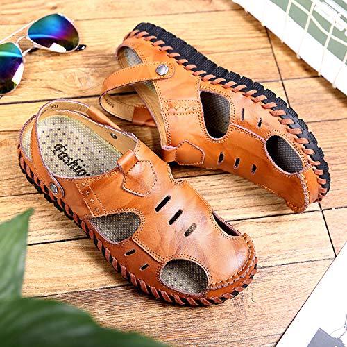 Scarpe Traspiranti Sandali Scarpe Pelle comode per Chiuse da Brown in Le Uomini Scarpe Spiaggia wCv5dxCI