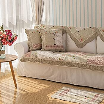 Amazon Com Stitching Floral Patchwork Quilted Sofa