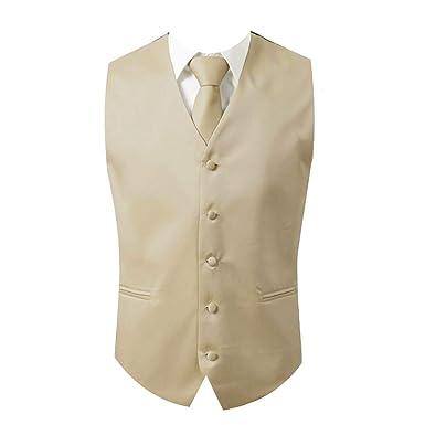 45ce57bb8a70 Brand Q 3pc Men's Dress Vest NeckTie Pocket Square Set for Suit or Tuxedo  (2XL