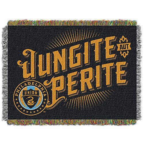 MLS Philadelphia Union Handmade Woven Tapestry Throw, 48